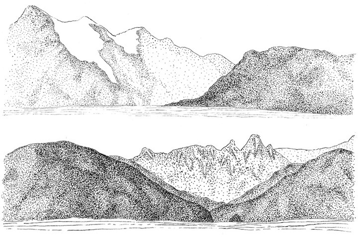 Illustration of British Columbia Coastline