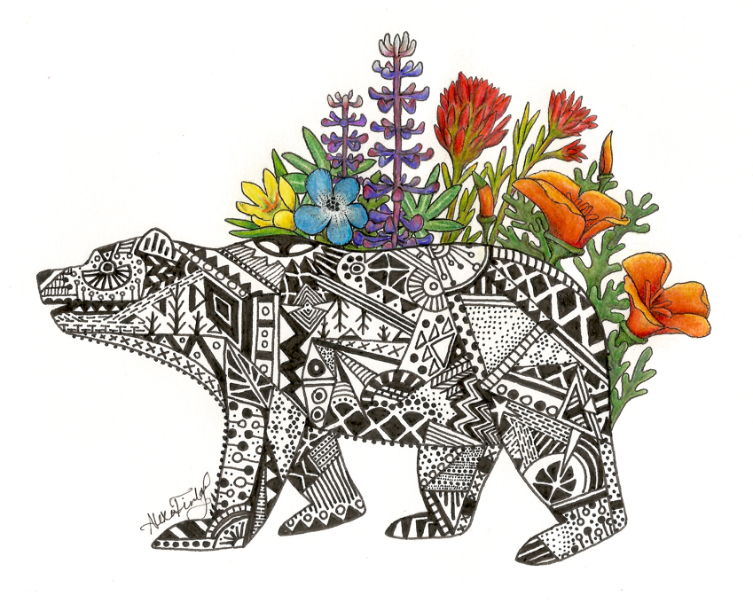 Illustration of California Bear Flora
