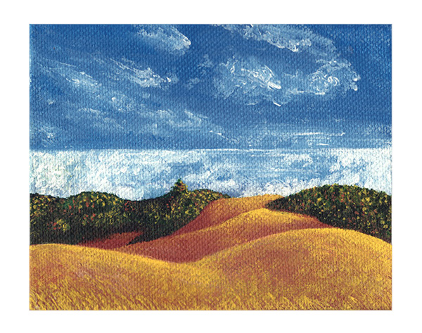 Golden Hills Painting
