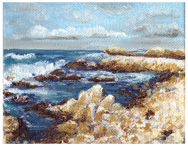 Moneterey Coastline Painting